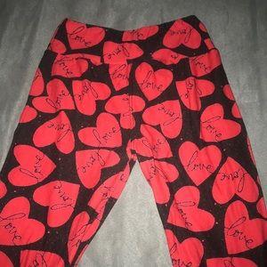 Lula Roe Valentine tween leggings!